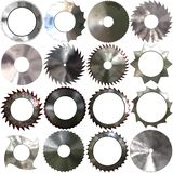 Set of saw blades generated textures. Or backgrounds Stock Photos