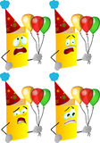 Set of scared birthday book Stock Images