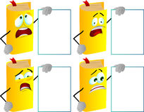 Set of scared book with blank board Royalty Free Stock Image