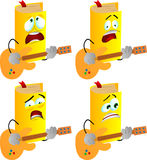 Set of scared book guitar player Stock Photo