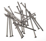 Set of scattered nails Stock Photography