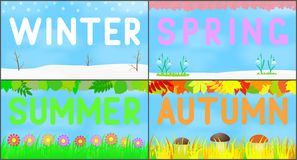 Set scenery seasons. Stock Image