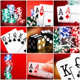 Set of  scenes in casino Royalty Free Stock Photo