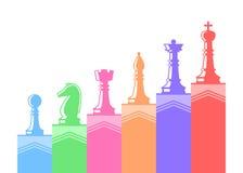 Set Schachabbildungen Stockbild