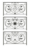 Set Schattenbilder der Eisenzäune Stock Abbildung