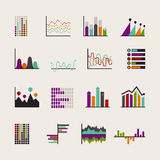 Set schedules for business illustrations Stock Photos