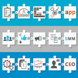 Set schemes infographic app, seo, smm Stock Photo