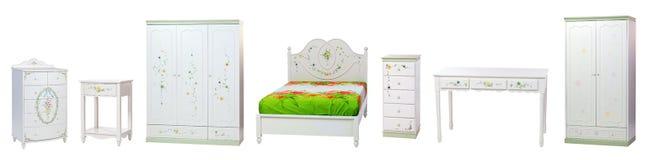Set Schlafzimmermöbel lizenzfreie stockfotos