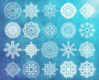 Set Schneeflocken Stockfotografie