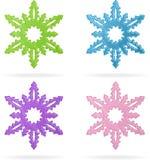 Set Schneeflocken, getrennte Ikonen Lizenzfreie Stockfotografie