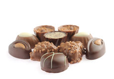 Set Schokoladen Stockbild