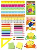 Set of school accessories. Vector illustration Stock Photos