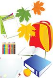 Set of school accessories Royalty Free Stock Photos