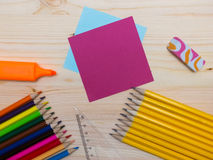 Set of school accessories Royalty Free Stock Images