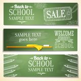 Set of school banners with sample text place for Stock Photography