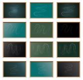 Set of school blackboard, vector  Royalty Free Stock Photos
