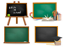 Set of school board blackboards. Back to school. Royalty Free Stock Photo
