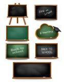 Set of school board blackboards. Back to school. Stock Photo
