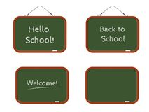 A set of school boards with an inscription and an empty template for your text Royalty Free Stock Photo