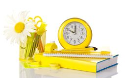 Set of school deliveries and hours Royalty Free Stock Images