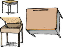 Set of School Desks Royalty Free Stock Photography