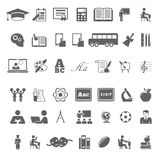 Set of school and education flat icons Royalty Free Stock Photos
