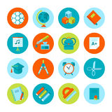 Set of school and education icons. Royalty Free Stock Photography
