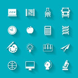 Set of school and education icons. Stock Images