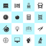 Set of school and education icons. Royalty Free Stock Photos