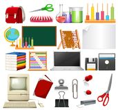 A Set of School Element. Illustration Vector Illustration
