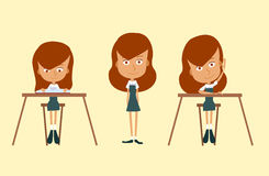 Set of school girl. Royalty Free Stock Photography