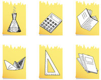 Set of  school icon Royalty Free Stock Image