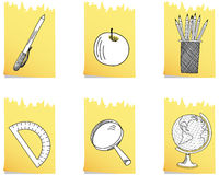 Set of  school icon Stock Photo