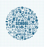 Set of School Icons, Back to School Objects Stock Photography