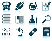 Set of school icons Royalty Free Stock Photo