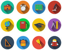 Set of school icons Royalty Free Stock Photos