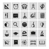 Set of school icons Stock Images