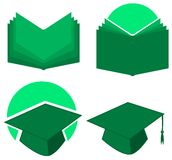 Set of school icons isolated Stock Image