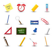 Set of school icons. School supplies. Education icons Royalty Free Stock Photography