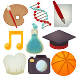 Set of school icons. Vector file EPS10 Royalty Free Stock Photography