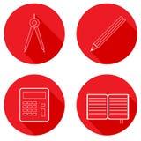 Set of school icons. Stock Photos