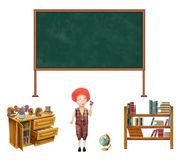 Set of school items. Back to school Royalty Free Stock Photo