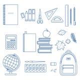 Set of school items Stock Photos
