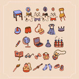 Set of School Items. Students Back to School Vector Illustration. Stock Photography