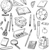 Set of school objects Stock Photos
