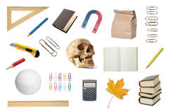Set of the school objects. Royalty Free Stock Images