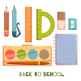 Set of school objects. Vector illustration Royalty Free Stock Photos
