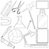 Set of school related objects Royalty Free Stock Photos