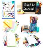 Set of school stationery Stock Photos