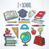 Set with school supplies Stock Photo